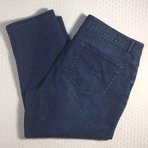J. Jill Stretch Denim Crop Pants